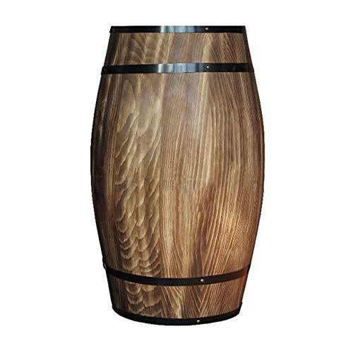Barriles de vino de roble decorativos, barriles de vino de madera maciza barriles de cerveza, Bodega Bar Exposición Bodas Eventos Fotografía Accesorios de decoración Decoraciones ZDDAB