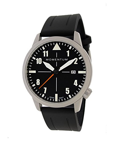 Men's Sports Watch | Fieldwalker Automatic Leather Adventure Watch by Momentum | Stainless Steel Watches for Men | Analog Watch with Automatic Japanese Movement | Water Resistant (200M/660FT) Classic Watch - Black / 1M-SN92BS1B