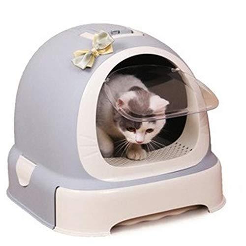 Fácil de limpiar Mascota caja de arena, completamente cerrado tocador del gato, la basura a prueba de salpicaduras gato Suministros Box Desodorante gato for arena for gatos caja de Hogares Cómodo
