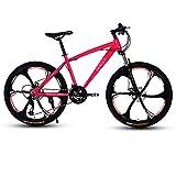 GAOTTINGSD Bicicleta de montaña Bicicletas de montaña for Adultos Bici del Camino de MTB Bicicletas for Hombres y Mujeres de 26 Pulgadas Ruedas Ajustables Velocidad Doble Freno de Disco
