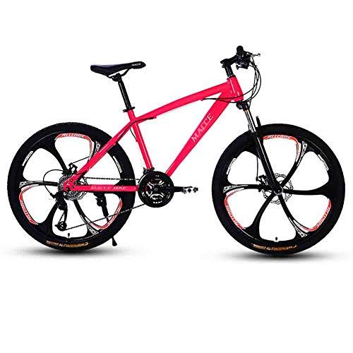 SOAR Bicicleta de montaña Adulto MTB Camino de la Bicicleta Bicicletas Bicicleta de montaña for Hombres y Mujeres 24En Ruedas Ajustables Velocidad Doble Freno de Disco