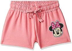 Mickey & Friends Girls Regular Fit Cotton Shorts