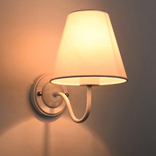 Applique murale Chambre Lampe de chevet Chambre Maison Ti Salon TV Wall Lights (couleur : Blanc)