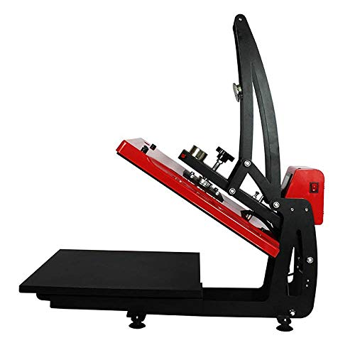 """US Stock CALCA 110V 16"""" x 20"""" Auto Open T-Shirt Heat Press Machine Slide Out Vertical Version Heat Printing Presses Transfer Machine for t Shirts Bags Mouth Pads Rock Photos"""