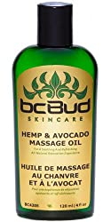 Hemp and Avocado Hypoallergenic Massage Oil for Sensitive Skin