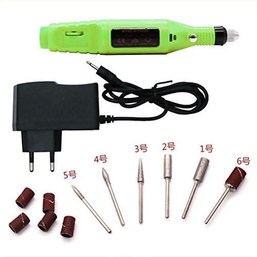 Frcolor 6 in 1 Professionelle Nagelfeile Drill Elektrische Nagel Poliermaschine - Grün