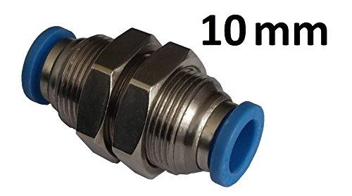 Pneumatik Schottverschraubung - Push In Steckverbinder - (10mm Schlauchanschluss)