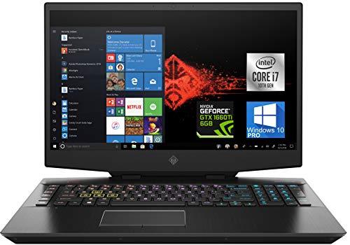 HP OMEN 17.3' Gaming Laptop, Intel i7-10750H, VR Ready NVIDIA GeForce GTX 1660 Ti 6GB, 64 GB RAM, 1TB NVMe SSD + 1 TB HDD, HDMI, Thunderbolt, Mini-DisplayPort, AC Wi-Fi, Bluetooth - Windows 10 Pro