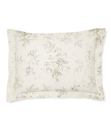 Ralph Lauren Hoxton Collection Ainslie Floral King Pillow Sham, Cream Grey