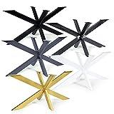 Magnetic Mobel Tischgestell Spider Tischbeine Kreuzgestell Tischkufen Stahl Metall Esstisch Schreibtisch Konferenztisch 150x83 cm (Schwarz)