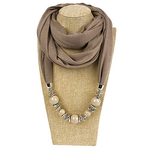 Modischer Halstuch, Ring, Schal, Halsketten, Perlen, einfarbig, Schmuck, Schal, Folk-Kundenspezifischer Stil