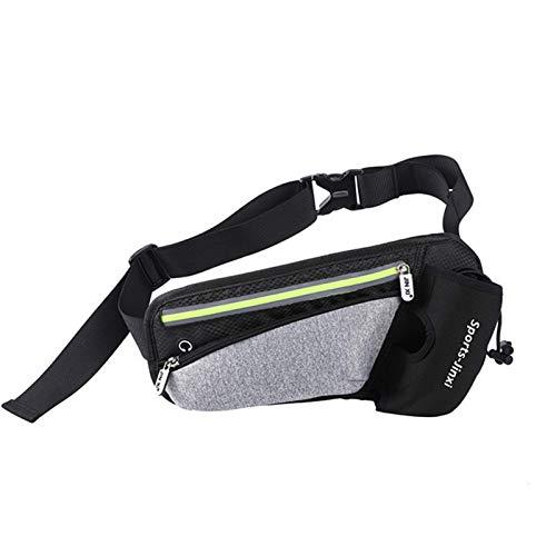 yaunli Bolsa de Paquete de Cintura al Aire Libre Bolsa de Cintura Unisex for los Entrenamientos, Ejercicio, Bicicleta, a pie Paquete Deportivo Ligero (Color : Light Grey, Size : One Size)
