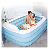 AWSAD Inflatable Bathtub Warm Folding Sauna Bidets Adult PVC Portable Outdoor Patio Swiming Pool Home Spa Children Playing Pool 360L/800L (Color : 18014060cm)