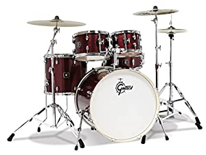 Gretsch Energy 5-Piece Drum Set w/Hardware and Zildjian Cymbals (Ruby Sparkle)