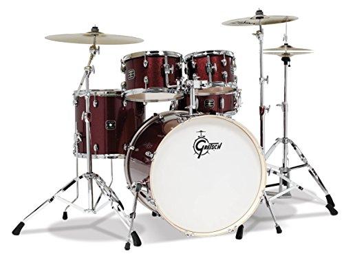 Gretsch Energy 5-Piece Drum Set w/Hardware and Zildjian Cymbals (Ruby Sparkle)