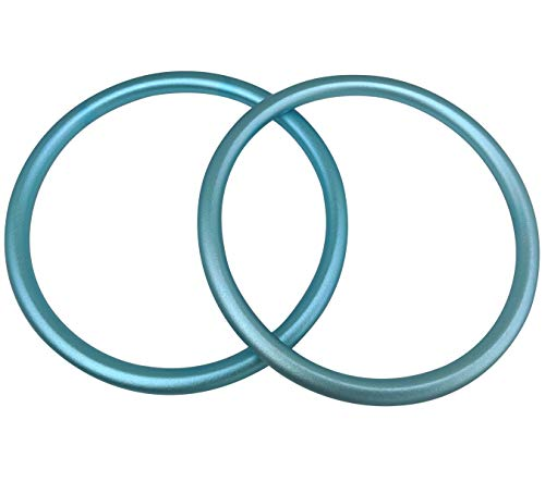 Sling Rings 3-inch Diameter by Cutie Carry. Infant Approved, mom Loved. Aluminum, lab Tested for Strength and Safety. Works with Your own Material or Convert wrap to Sling. Blue (Light Aqua)