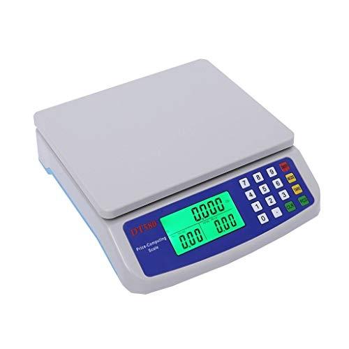 ZCXBHD Digitale keukenweegschaal, 30 kg, 1 g, LCD-display, PCS, tara-functie, nauwkeurig, bakken van huis, eten, multifunctionele kantelfunctie, fruitschaal