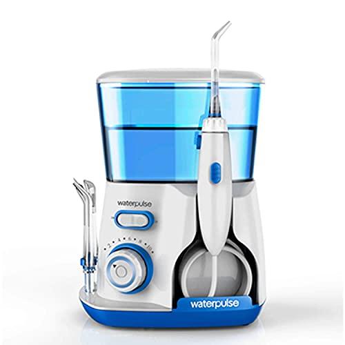 Irrigador Oral Fio Dental WaterPulse V300 em Cores, Bivolt, Limpeza profunda dentes combate gengivite 10 níveis pressão Potente, capacidade 800ml (Azul)