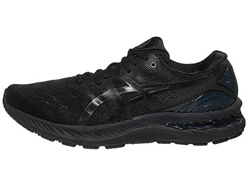 ASICS Men's Gel-Nimbus 23 Running Shoes, 14M, Black/Black