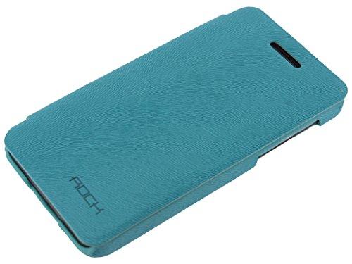 Rock Buchdesign Tasche Big City Serie für BlackBerry Z10 Side Flip Book Hülle Handytasche Buchtasche Premium Hülle in Farbe hellblau blau light blue