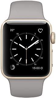 Apple Watch Series 2 38mm Smartwatch (Gold Aluminum Case, Concrete Sport Band) (Renewed)