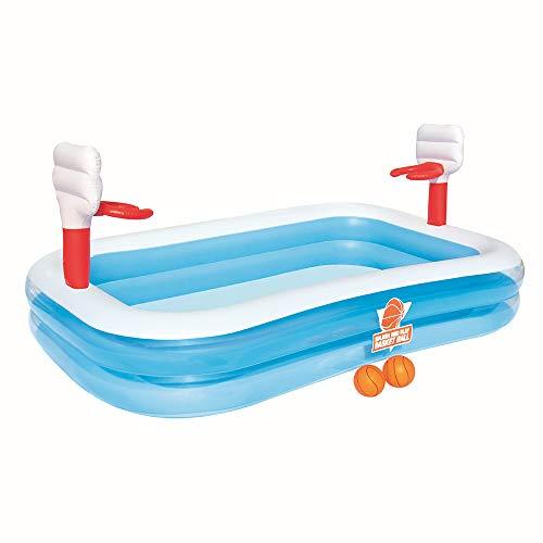 DEAR-JY Piscinas hinchables con Canasta de Baloncesto,253×168×102cm,Piscina Inflable Family Swim Center,Piscina Infantil Cubierta y al Aire Libre Piscina de Bolas oceánicas Piscina de baño