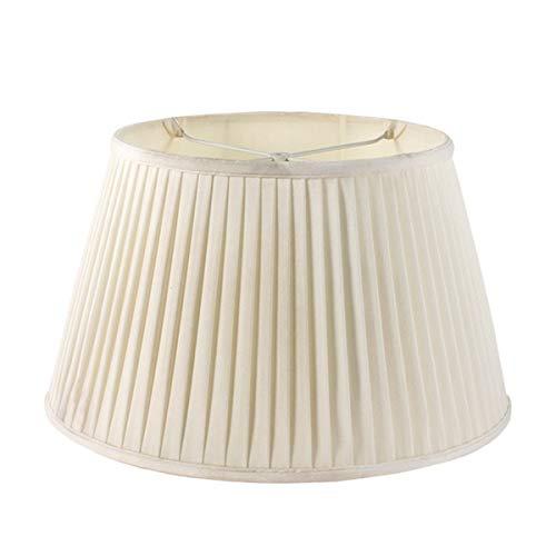 MYMAO Lámpara de Crema Plisada de Hongos Shade 14x19x11.5in