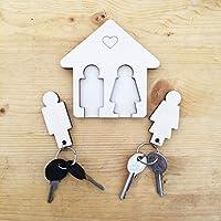 ✅ VERLEGEN SIE NIE MEHR IHRE SCHLÜSSEL - Mit diesem Schlüsselring haben Sie Ihre Auto- und Hausschlüssel immer griffbereit. Schnappen Sie sie beim Rausgehen und hängen Sie sie bei der Rückkehr zurück. ✅ EINFACHER ZUGANG - Mit diesem Wandhalter verlas...