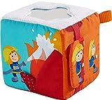 HABA 304239 - Spielwürfel Feuerwehr-Einsatz, Stoffspielzeug ab 6 Monaten, mit Feuerwehrauto zum...