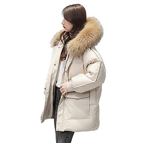 MCSZG Chaqueta Abrigo de algodón de Longitud MediaVersión Coreana de la Mujer de algodón de Pan Grueso de algodón Suelto pequeño