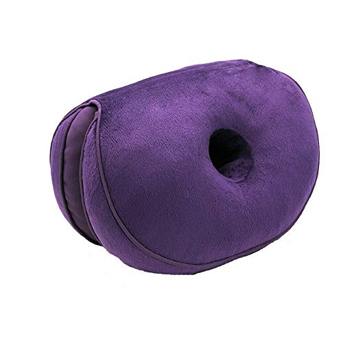 Dual Comfort Cushion Lift Hips Up Seat Cushion Multifunction, for Pressure Relief, Fits in Car Seat, Home, Office