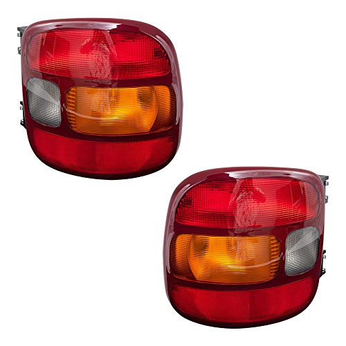 Brock Replacement Driver and Passenger Set Tail Lights Compatible with 1999-2003 Silverado Sierra 1500 Stepside Pickup Truck 19169012 19169013