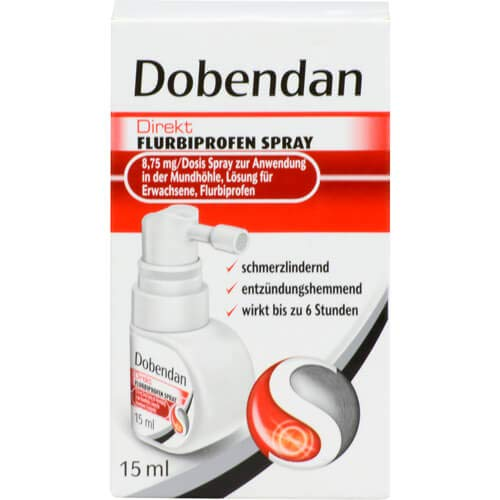 Dobendan DOBENDAN Direkt Flurbiprofen Spray 8,75mg/Dos.Mund - 15 ml Spray 110244