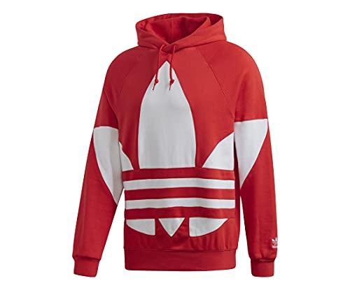 adidas Originals Men's Big Trefoil Hoodie Sweatshirt, Lush Red, M