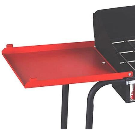Folding Side Shelves For 3 Burner Stove, Includes 2 Stove Shelves, Red