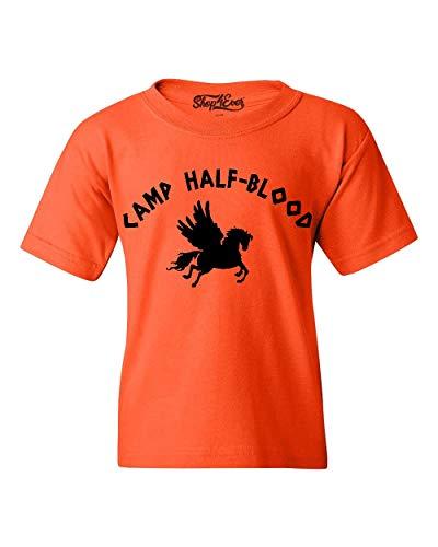 shop4ever Camp Half Blood Youth's T-Shirt Youth Medium Orange 0