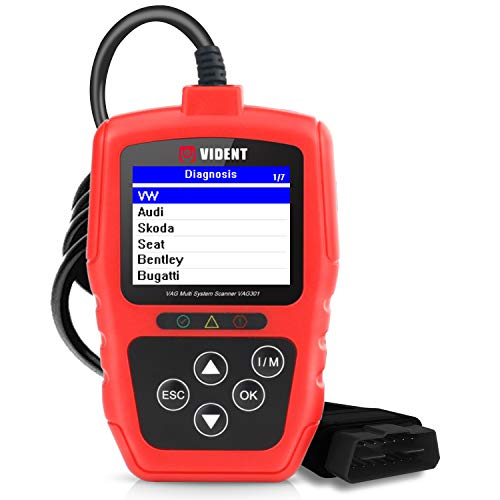 VIDENT V301 Automotive Full System Diagnostic Scan Tool for VW Audi Seat Skoda EOBD OBD2 Scanner with ABS SRS SAS EPB TPA BMS Transmission & Oil Service Code Reader