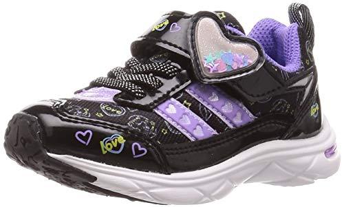 [シュンソク] スニーカー 運動靴 軽量 15~23cm 1E キッズ 女の子 LEC 6430 ブラック 21 cm E