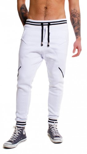 Young & Rich Herren Jogginghose Sweatpants 33-3312, Schwarz, XL