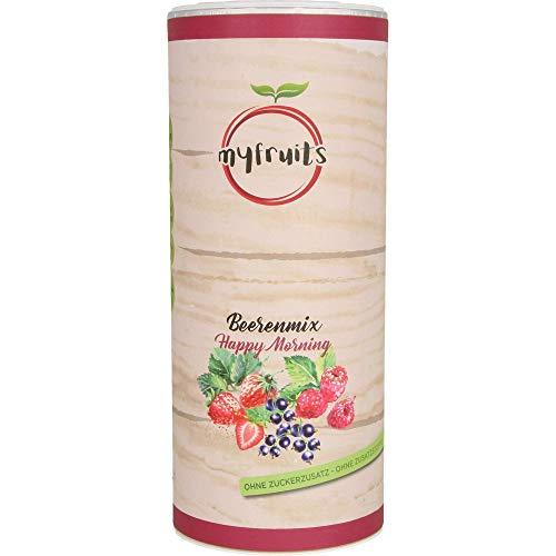 myfruits® Beerenmix - Happy Morning - Mischung aus gefriergetrockneten Früchten - ohne Zuckerzusatz - Erdbeerscheiben, Himbeeren, schwarze Johannisbeeren (300g) (300g)