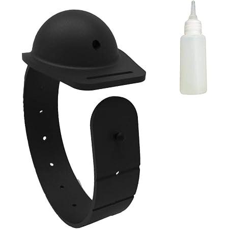 Miraitian Distributeur de bracelet rechargeable en gel de nettoyage des mains pour adultes//enfants Unisexe de 12-13 ml Capacit/é portable Petite presse savon