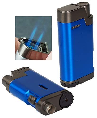 Lifestyle-Ambiente Tycoon Bull Doppel-Jet Zigarren Feuerzeug Blue Zigarrenbohrer inkl Tastingbogen