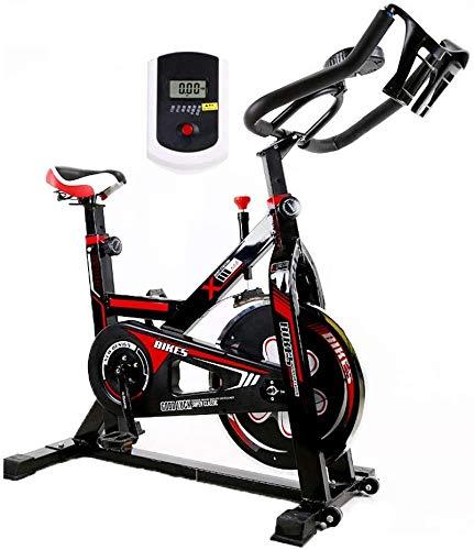 Lloow Ciclismo Indoor Bike, Bicicleta elíptica Bicicleta de Ejercicio para el hogar, Multifuncional Reloj electrónico, Ajustable Profesional Bajar de Peso Equipo de la Aptitud, Hombres, Mujeres