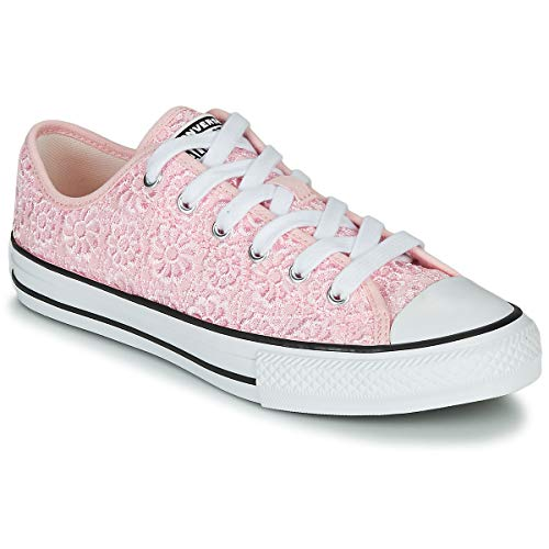 Converse Chuck Taylor All Star Ox Daisy Crochet Rosa/Blanco (Arctic Pink/White) Poliéster 37½ EU