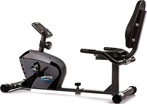 Zipro Unisex - Bicicleta de Fitness Horizontal magnética Vision, Color Negro, Talla única