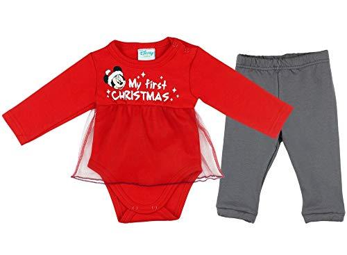 Kleines Kleid Baby Mädchen Bekleidungs-Set Weihnachts-Set-Outfit Strampler-Anzug Body und Hose Größe 56 62 68 74 80 86 für 3 6 9 12 Monate Geschenk Erste Weihnachten Kostüm (74, Modell 1)