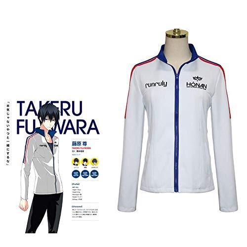 LCHENX-Anime Prince of Stride Cosplay Kostüm Halloween Party Kostüm Sportswear Jacke Schuluniform,Weiß,M