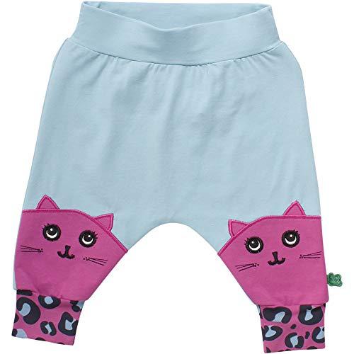 Fred'S World By Green Cotton Animal Pants Pantalon, Bleu (Water Blue 015441501), 62 Bébé Fille