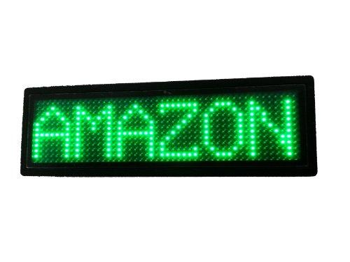 Programmable Scrolling SMD Dot Matrix LED Name Badge (12x48 pixels) Green