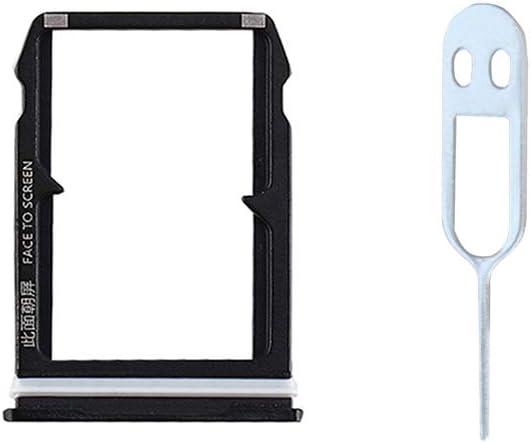 JayTong Tarjeta SIM Bandeja Titular de Repuesto con Remover Eject Pin Tool para Xiaomi 6 Mi6 Mi 6 Negro